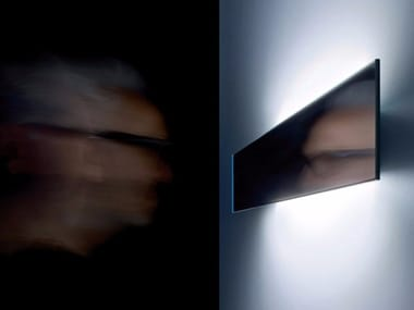 LED mirror and metal wall lamp SHADE