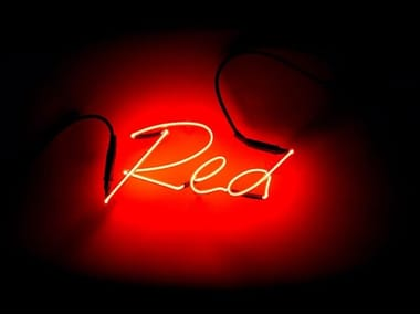 Wall mounted Light letter SHADES RED
