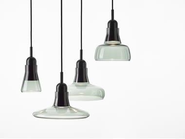 Blown glass pendant lamp SHADOWS EXTERIOR