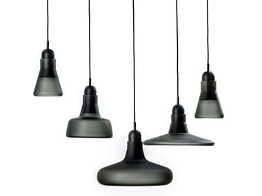 Blown glass pendant lamp with dimmer SHADOWS XL | Pendant lamp