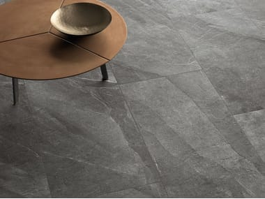 Porcelain stoneware wall/floor tiles with stone effect SHALE Ash