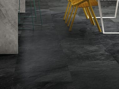 Porcelain stoneware wall/floor tiles with stone effect SHALE Dark