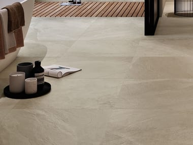 Porcelain stoneware wall/floor tiles with stone effect SHALE Sand