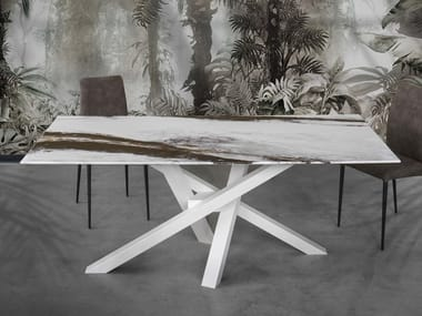Tavolo da salotto rettangolare in resina SHANGAI ART