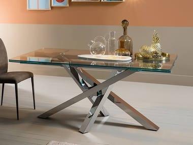 Sedie Per Tavolo In Cristallo.Tavoli E Sedie In Vetro Riflessi Archiproducts