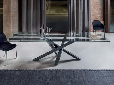 Extending crystal table SHANGAI | Extending table