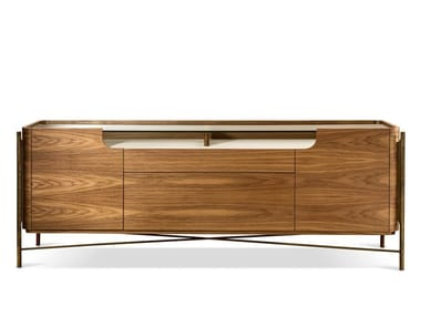 Walnut sideboard with doors SHANGHAI | Walnut sideboard