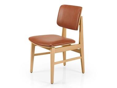Cadeira de pele SHANNA M1054WUUST