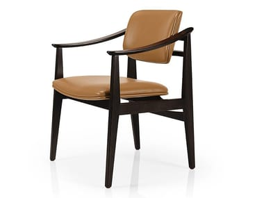 Cadeira de pele com braços SHANNA M1056CUUST