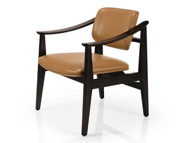 Cadeira lounge de pele com braços SHANNA M1058UUST