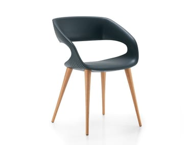 Upholstered polyurethane chair SHAPE