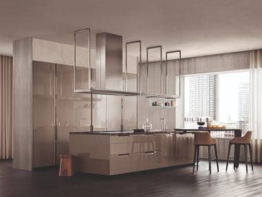 Fitted kitchen with integrated handles SHAPE