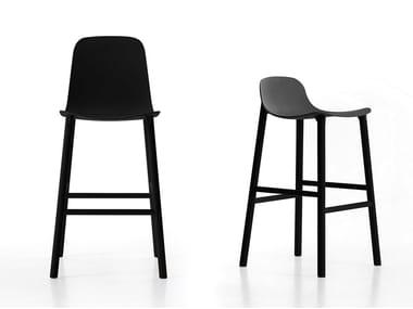 High stool with footrest SHARKY ALU | High stool