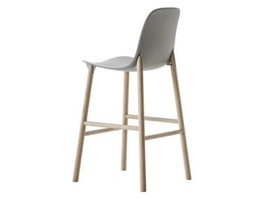 Polyurethane barstool with back SHARKY | Stool