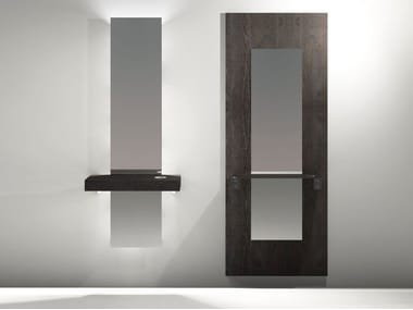 Rectangular wall-mounted mirror with integrated lighting SHARP