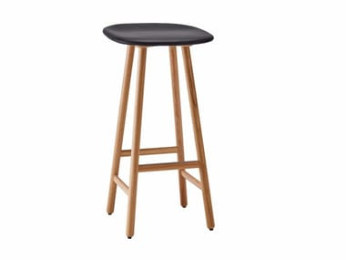 High wooden stool SHELL | High stool