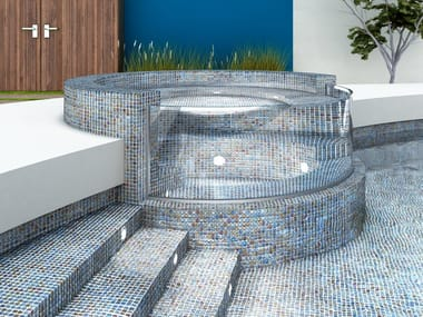 Glass Pool liner / mosaic SHELL