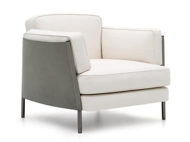 Fabric armchair with armrests SHELLEY | Armchair