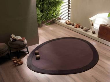 Contemporary style custom synthetic fibre rug SHIELD | Custom rug