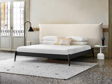 Double bed with upholstered headboard SHIKO WONDER