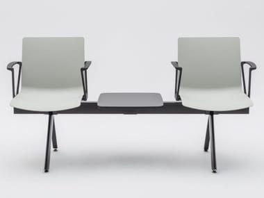 Freestanding plastic beam seating SHILA | Beam seating