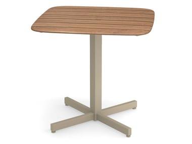 Square teak table SHINE | Square table