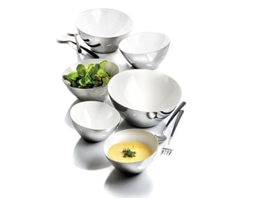 Stainless steel serving bowl SHINE