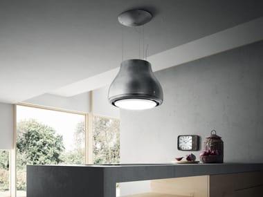 Metal cooker hood with integrated lighting SHINING