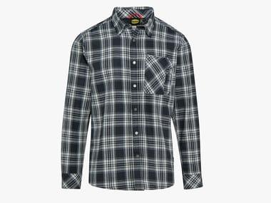 Camicia da lavoro in flanella SHIRT CHECK NERO/BIANCO