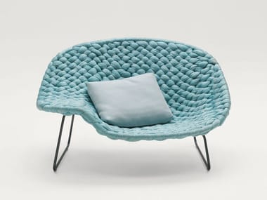 Polyester easy chair SHITO CHAISE LONGUE