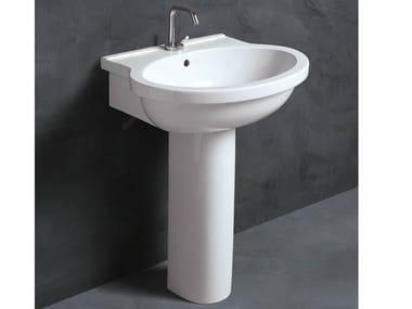 SHORT 65   Pedestal Ceramic Washbasin