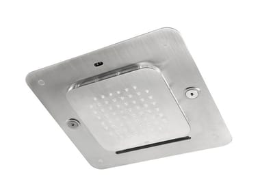 LED ceiling mounted stainless steel overhead shower SHOWERSSTEEL - 8572348