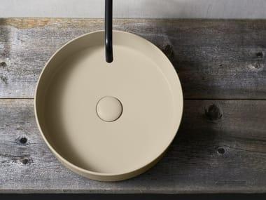 Lavabo sobre encimera redondo de cerámica SHUI COMFORT | Lavabo redondo