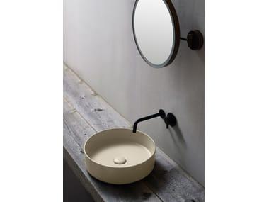 Lavabo da appoggio rotondo in ceramica SHUI COMFORT | Lavabo rotondo