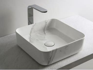 Countertop square ceramic washbasin SHUI COMFORT | Square washbasin