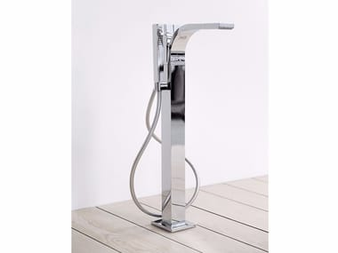 Floor standing bathtub tap with hand shower SI | Floor standing bathtub tap