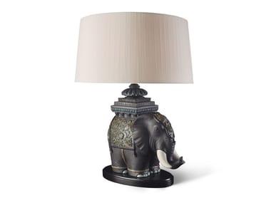 Lampada da tavolo in porcellana SIAMESE ELEPHANT