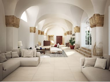 Porcelain stoneware wall/floor tiles with stone effect SICILY