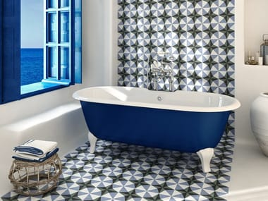 Porcelain stoneware wall/floor tiles with encaustic effect SICILY TILES
