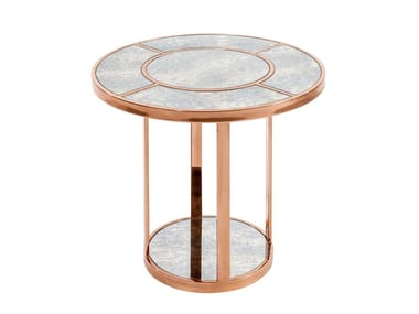 Round marble side table SIDE-LINER