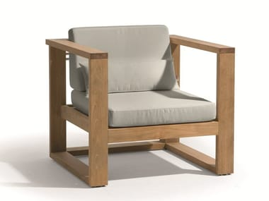 Sled base garden armchair with armrests SIENA | Garden armchair