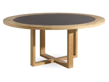 Round teak garden table SIENA | Round table