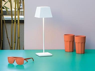Lampada da tavolo per esterno in alluminio pressofuso senza fili SIESTA