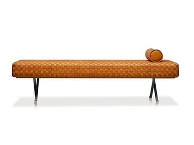 Tanned leather day bed SIGMUND