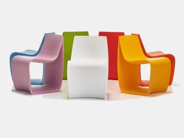 Polyethylene kids chair SIGN BABY