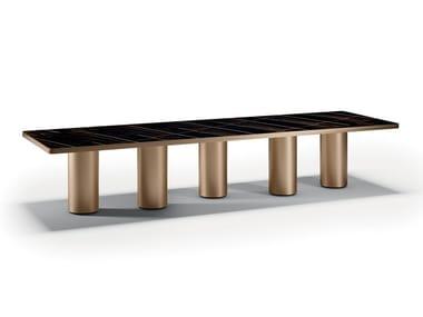 Tavolo da pranzo rettangolare in legno SIGNORE DEGLI ANELLI | Tavolo in legno