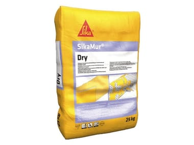 Dehumidifying plaster / Renovating and de-humidifying additive and plaster SIKAMUR® DRY
