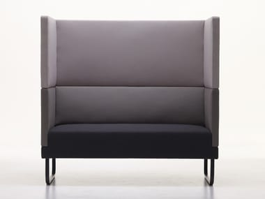 2 seater high-back fabric sofa SILENCE-SH