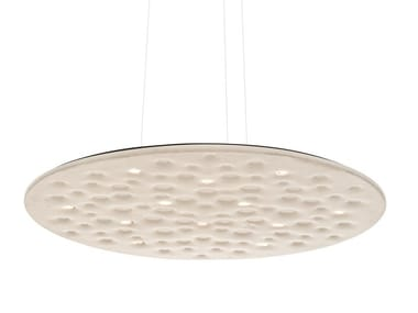 Polyethylene hanging acoustic panel / pendant lamp SILENT FIELD
