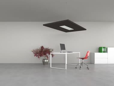 Hanging acoustic panel with Integrated Lighting SILENTE | Hanging acoustic panel with Integrated Lighting